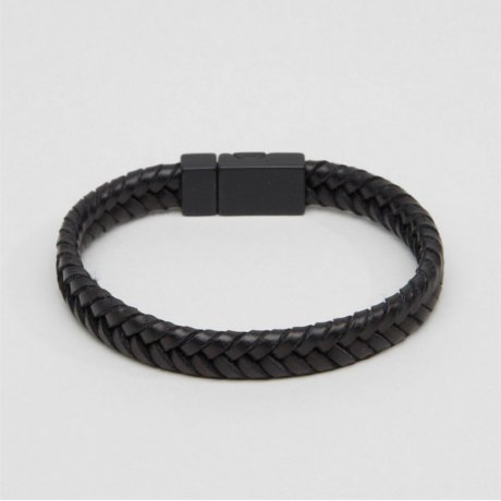 ASOS Armband Geflochten Schwarz