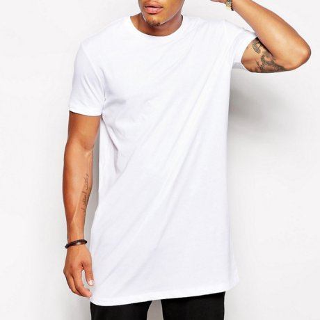 ASOS T-Shirt Superlang Weiß