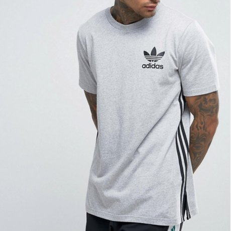 Adidas Originals T-Shirt Lang Grau