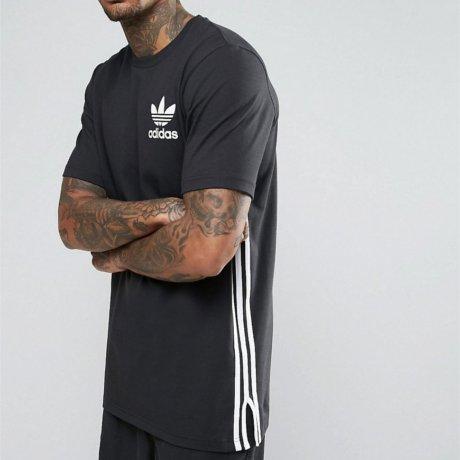 Adidas Originals T-Shirt Lang Schwarz