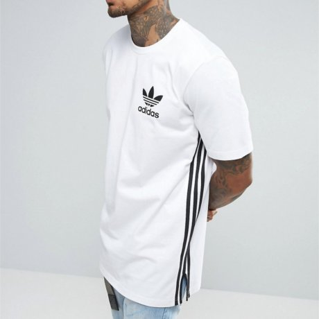 Adidas Originals T-Shirt Lang Weiß