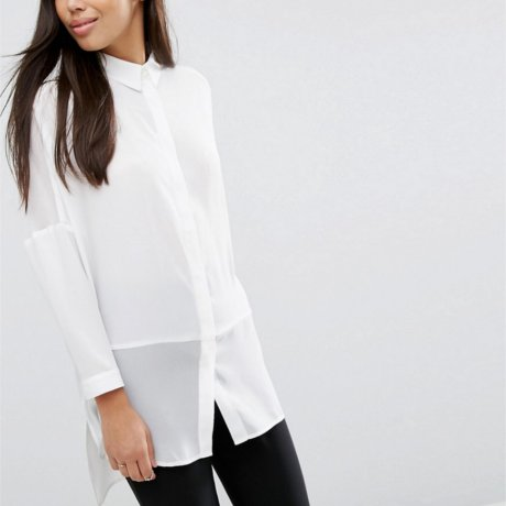 Asos Bluse Oversize Weiß