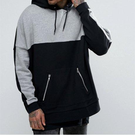 Asos Hoody Oversize Schwarz Grau