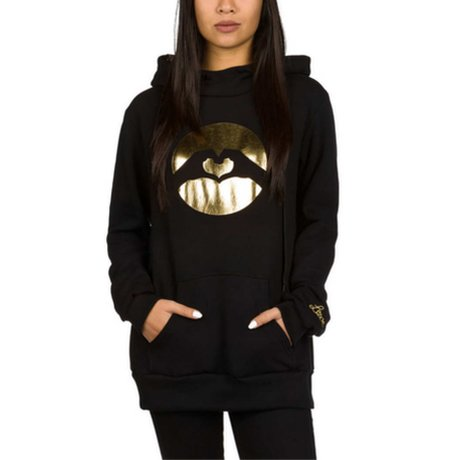 Love Golden Erea Hoody Schwarz