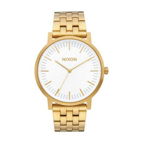 Nixon The Porter Uhr Gold Weiß