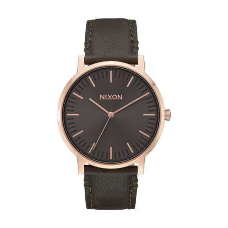 Nixon The Porter Uhr Leather Braun Bronze