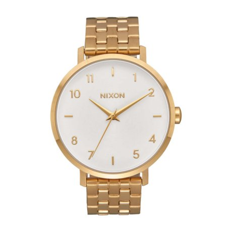 Nixon Uhr The Arrow Gold Weiss