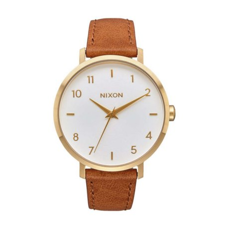 Nixon Uhr The Arrow Leather Gold Weiss