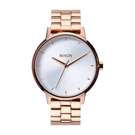 Nixon Uhr The Kensington Bronze Weiß