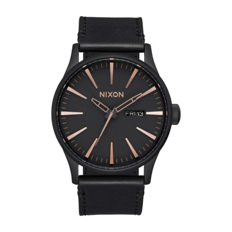 Nixon Uhr The Sentry Leather Schwarz Bronze