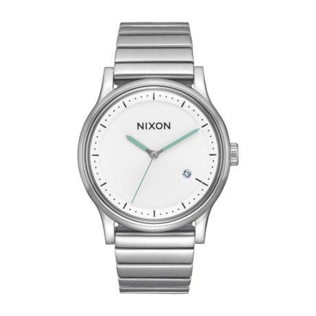 Nixon Uhr The Station Silber Weiss