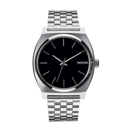 Nixon Uhr The Time Teller Silber Schwarz