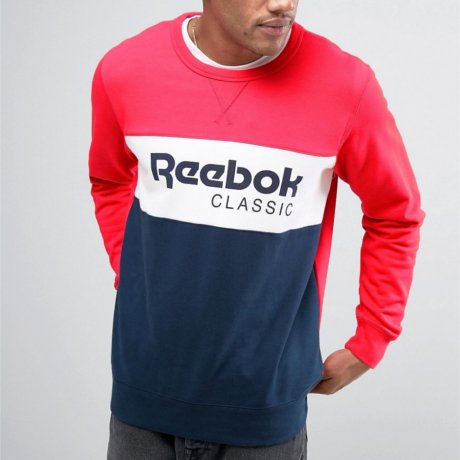 Reebok Sweater Classic Rot Blau Weiss