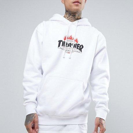 Trasher Hoody Weiß